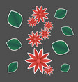 paper flower and leaves vector image