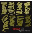 Pastel strokes set 1 vector image vector image
