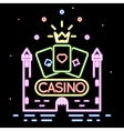 Poker club or casino background vector image vector image