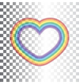 Rainbow icon heart transparent sign vector image