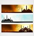 ramadan and eid headers vector image vector image