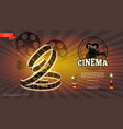realistic cinematography bright background vector image