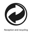 reception and recycling icon simple style vector image