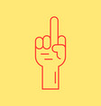 red hand with middle finger icon vector image vector image