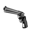 revolver in monochrome style design element vector image vector image