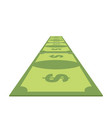 road out of money wealth path of cash dollar path vector image vector image