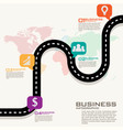 road street business infographic design template vector image vector image