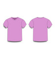 rose male t-shirt template v-neck front and back vector image vector image