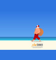 santa claus wearing mask on new summer vacation vector image