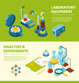 scientific banners medical or chemical experiment vector image