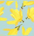 seamless floral pattern with blossoming flowers vector image