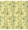 Seamless pattern with decorative poppy flowers vector image