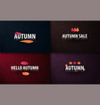 set of autumn banners with leaves for shopping vector image