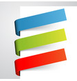 set of colorful paper tags vector image vector image