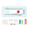 sewing machine and tool kit icon vector image vector image