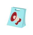 Shopping bag icon cartoon on white vector image vector image