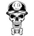skull a clown in a hat vector image vector image