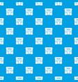 tattoo salon building pattern seamless blue vector image vector image