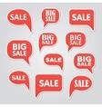 text bubble SALE vector image