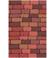 texture of seamless red clay roof tiles slate vector image vector image