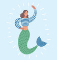 the image of a mermaid vector image
