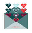 traditional postal envelope with romantic desire vector image vector image