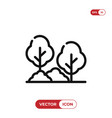 tree in garden icon vector image