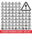 Triangular warning hazard symbols big set vector | Price: 1 Credit (USD $1)