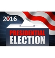USA presidential election day concept vector image