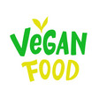 vegan food logo sign vector image vector image