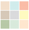 Vintage seamless polka dot patterns set vector image