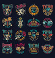 Vintage tattoo studio emblems