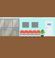 waiting room for patients at dental office large vector image