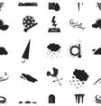 Weather pattern icons in black style Big vector image vector image