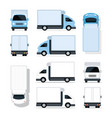 mini truck blue and white vector image