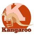 ABC Cartoon Kangoroo2 vector image vector image
