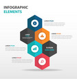abstract hexagon business infographics elements vector image vector image