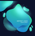 abstract modern flowing liquid shapes design vector image