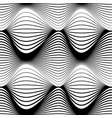 abstract seamless pattern black wavy stripes on a vector image vector image
