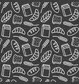 bakery pattern outline vector image vector image