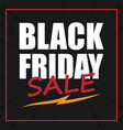 banner black friday sale image vector image