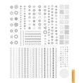 big set minimal geometric monochrome shapes vector image
