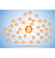 Bitcoin cloud net vector image vector image