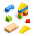 Brick house wooden toy set vector | Price: 1 Credit (USD $1)