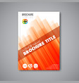 brochure book flyer design template vector image vector image