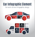 car infographics design vector image vector image