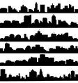 city skyline Silhouette set vector image vector image