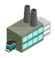 coal plant 3d isometric icon vector image