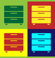 color furniture nightstand icon isolated on color vector image vector image
