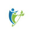 creative people logo design template vector image vector image